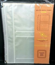 Target Brand Deluxe Refill Pages Medium Photo Albums No 4 Format 20 Pgs ... - $12.16