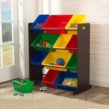 KidKraft 15451 Kids Espresso Toy Storage Sort and Store It Bin Bucket Unit NEW - $83.95