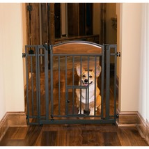 Small Dog Gate Indoor Pet Fence Baby Barrier Adjustable Walk Thru Swingi... - $62.01