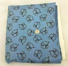Debbie Mumm Blue Fabric SSI Uncle Sam America Folk Art Stars Flag Cotton... - $11.84
