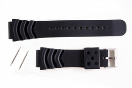 22mm Black PVC Plastic Divers Watch band  for SEIKO or any Divers Watch ... - $12.75