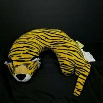 Critter Piller Travel Neck Pillow Head Support Striped Tiger Yellow Blac... - $15.83