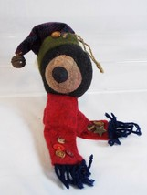 Dan Dee Black Bear in Winter Hat & Scarf Stuffed Plush Christmas Ornament  - $7.92