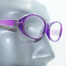 Fun Reading Glasses See Thru Purple Grape Jelly Whimsy Oval Frame +2.00 Lens - $23.00