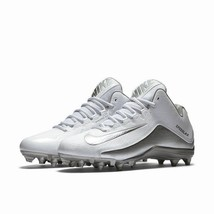 Nike Speedlax 5 Lacrosse Cleats White/Metallic Silver 807143 100 Men's S... - $54.95