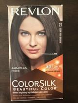 Revlon ~ ColorSilk ~ Beautiful Color ~ 27 Deep Rich Brown ~ Hair Dye ~ C... - $4.74