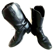 Biltrite Texas Black Leather Cowboy Western Work Boots 8.5 D Pull Up 817... - $39.59