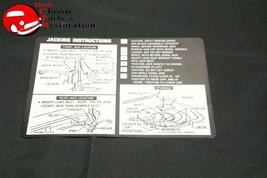 71 Chevelle Sedan & Convertible Jack Instructions Decal GM#3996913 - $999.99