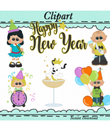 Happy New Years Kids Clip Art - $1.35