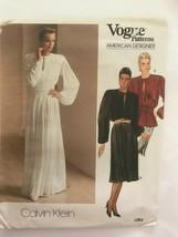 UNCUT Calvin Klein Vogue American Designer Pattern 1263 Gown Blouson sz 10 - $17.82