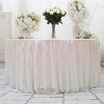 "Eternal Beauty Sequin Tablecloth, Sequin Table Linen 108"" Round, Iridesc... - $57.15"