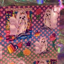 MINT Vintage Lisa Frank Princess Puppies & Pearls  Sticker Sheet PERFECT FULL image 2