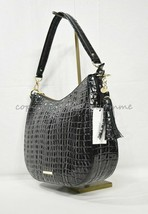 NWT! Brahmin Daphne Leather Hobo / Shoulder Bag in Black La Scala - $279.00