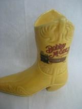 Bobby McGees Conglomeration Yellow Cowboy Boot Ceramic Bar Mug Made in M... - $9.46