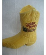 Bobby McGees Conglomeration Yellow Cowboy Boot Ceramic Bar Mug Made in M... - $9.46
