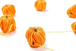 "CraftMore Fall Yarn Pumpkin Garland 60"" image 1"