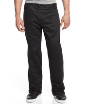 NEW MENS SEAN JOHN ORIGINAL GARVEY OVERDYED COTTON RELAXED BLACK JEANS 3... - $34.99