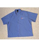 XL Pepsi Blue Worker Shirt  Button Down Work  - $13.55
