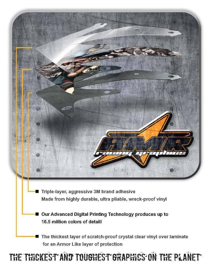 ATV Graphics Kit Quad Sticker Decal Wrap For Yamaha Breeze 125 89-04 CARBONX BLU