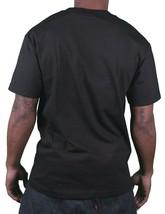 Famous Stars & Straps Homme Noir/Jaune Réflecteur Boh Badge T-Shirt Petit Nwt image 2