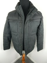 Calvin Klein Mens Black charcoal Full Zip warm Jacket Size Small - $35.00