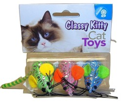 North american Pet - Classy Kitty Shinny Mouse Three Pack NIP 42101