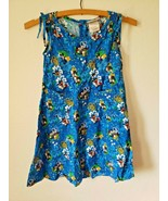 Disney Store Girls Small Dress Blue Mickey Minnie Mouse Hawaiian Floral ... - $20.05