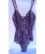 Victoria's Secret Very Sexy Lace Purple Teddy Bodysuit  Size P - $47.04