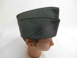 Old Vtg WORLD WAR II WWII WW2 OFFICER SOLDIER GREEN GARRISON CAP Hat R-7774 - $29.69
