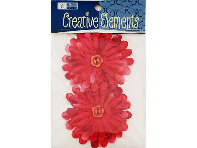 Creative Elements Magenta Flowers with Button Centers #WMF501