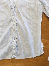 Abercrombie Girl's Blue & White Striped Long Sleeve Dress Shirt - Size XL image 9