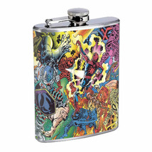 Comic Battle Em1 Flask 8oz Stainless Steel Hip Drinking Whiskey - $279,96 MXN