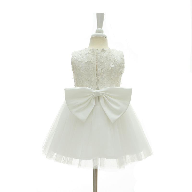 New Body Dress 0-24 Month Strapless White Flower Girl Dress Ball Gowns Short2018 image 5