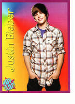 Justin Bieber teen magazine pinup clipping hands in his pockets Popstar smile