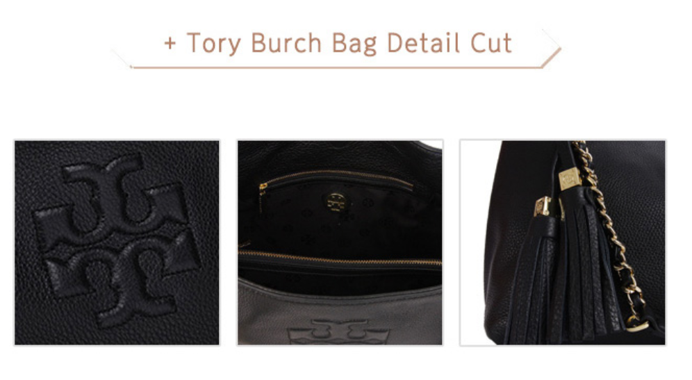 Tory Burch Thea Chain Shoulder Slouchy Tote Black Color for Woman Free Shipping