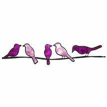 Eangee Home Designs Metal Handcrafted Birds On A Wire Purple Wall Decor  - $46.99