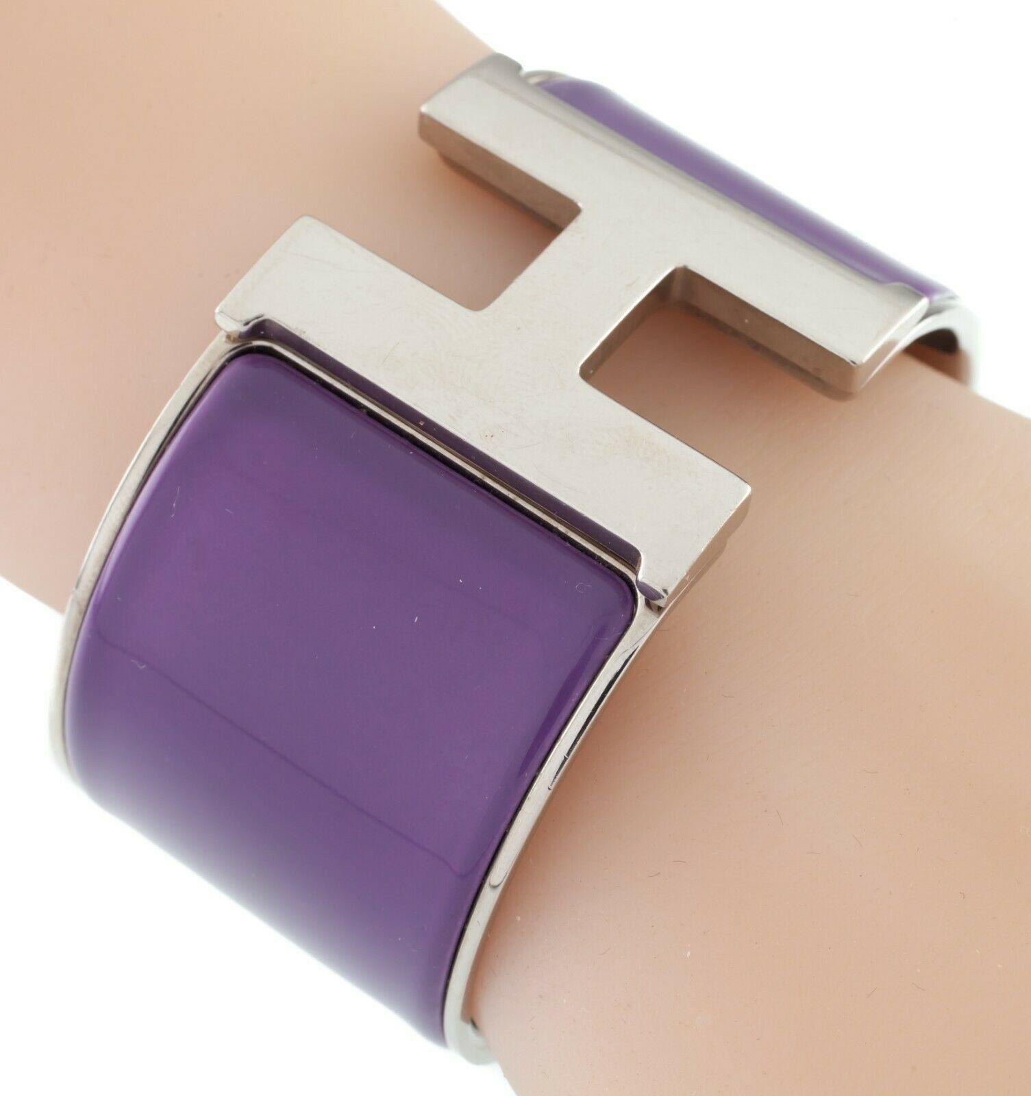 Hermes Clic Clac Violet Extra Large Bracelet Nice! image 2