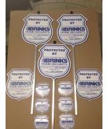 3 REFLECTIVE BRINKS Security Yard Signs + 2 Window Signs + 6 Window Deca... - $41.99