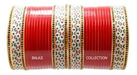 Red Designer Chura Bridal Punjabi Choora Fashion Jewellery Chuda Set for... - $19.99