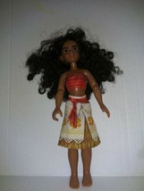 """Disney Moana Jointed Doll 10"""" Tall Hawiian Style Outfit long black curly hair  - $12.86"""