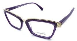 Alain Mikli Rx Eyeglasses Frames A02015 3970 53-15-145 Gold / Dot Violet Italy - $103.41