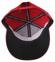 Dissizit Mens Dx Bones English D Red Snapback Baseball Hat Cap Slick Compton NW image 7