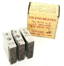 BOX OF 3 NEW TOLEDO BEAVER 999A H.S. OPENING DIE HEADS 2'' PIPE image 2