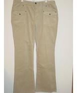 Michael Kors Women's Corduroy Pants Tan Beige Khaki Cords MK Logo Back P... - $19.75