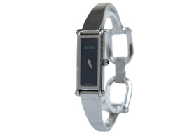 Auth GUCCI 1500L Stainless Steel Black Dial Ladies Watch GW11229L - $210.98 CAD