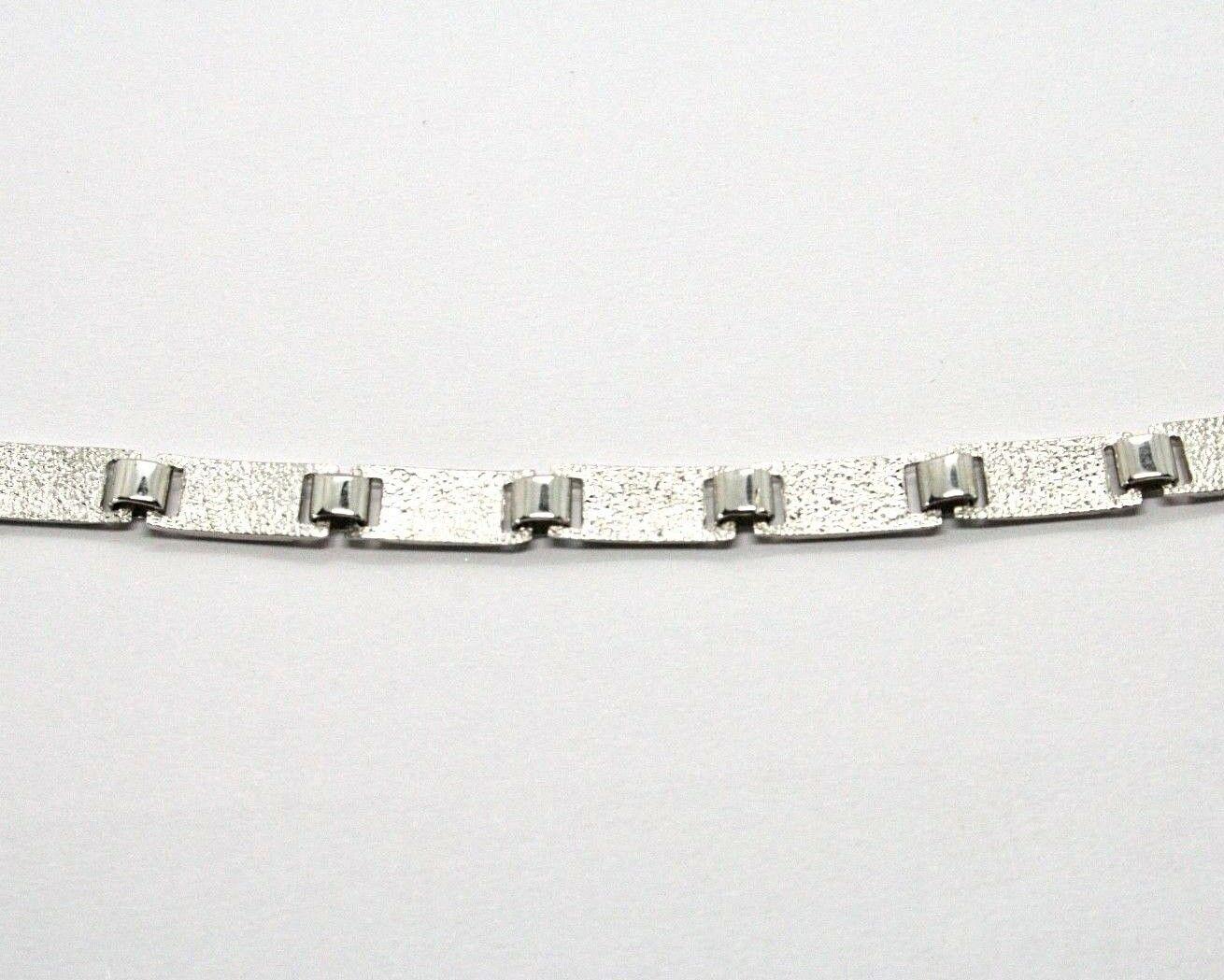 Silber Armband 925 Rhodium mit Flags Seekarten Glasierte Fliesen Made in Italy