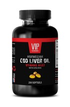 Skin health supplements - NORWEGIAN COD LIVER OIL - Cod liver oil softgels- 1B - $17.72
