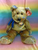 Vintage 1999 Ty Original Beanie Buddy Clubby III Club Bear Retired w/ Ta... - $9.85