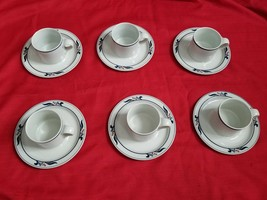 Vintage Dansk Bistro set x 6 Cups Saucer MARIBO China White Espresso Tea Coffee - $67.32