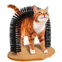 Perfect Cat Self Scratching Grooming Arch Self Groomer Massager Post Bru... - $28.97 CAD